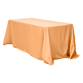 "90"" x 132"" Rectangular Oblong 200 GSM Polyester Tablecloth - Peach"