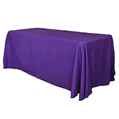 "90"" x 132"" Rectangular 200 GSM Polyester Tablecloth - Purple"