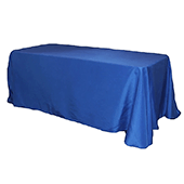 "90"" x 132"" Rectangular Oblong 200 GSM Polyester Tablecloth - Royal Blue"