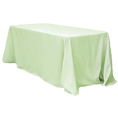 "90"" x 132"" Rectangular Oblong 200 GSM Polyester Tablecloth - Sage Green"