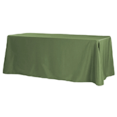 "90"" x 132"" Rectangular Oblong 200 GSM Polyester Tablecloth - Willow Green"