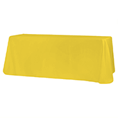 "90"" x 132"" Rectangular Oblong 200 GSM Polyester Tablecloth - Canary Yellow"