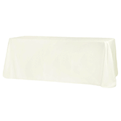 "90"" x 156"" Rectangular 125-130 GSM Polyester Tablecloth - Ivory"