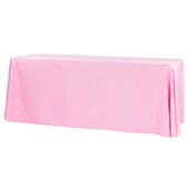 "90"" x 156"" Rectangular 125-130 GSM Polyester Tablecloth - Pink"