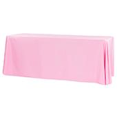 """90"""" x 156"""" Rectangular 125-130 GSM Polyester Tablecloth - Pink"""