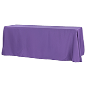 "90"" x 156"" Rectangular 125-130 GSM Polyester Tablecloth - Purple"