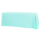 "90"" x 156"" Rectangular 125-130 GSM Polyester Tablecloth - Turquoise"