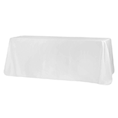 "90"" x 156"" Rectangular 125-130 GSM Polyester Tablecloth - White"