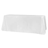"90"" x 156"" Rectangular 125-130 GSM Polyester Tablecloth - White"