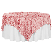 """Large Petal Gatsby Circle - Square Table Overlay / Tablecloth - 90"""" x 90"""" - Dusty Rose/Mauve"""