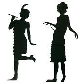 A Rug Flapper Dancers Silhouette