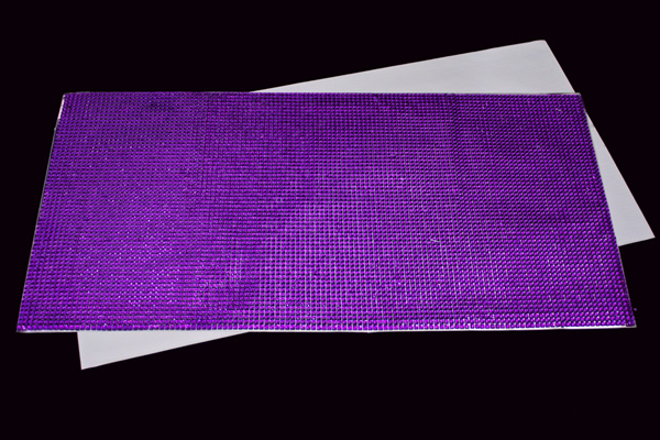 Adhesive Rhinestone Mesh Sticker Sheets 20 Purple