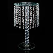 DECOSTAR™ CHANDELIER REAL GLASS CRYSTAL CAKE STANDS CASCADING 18""