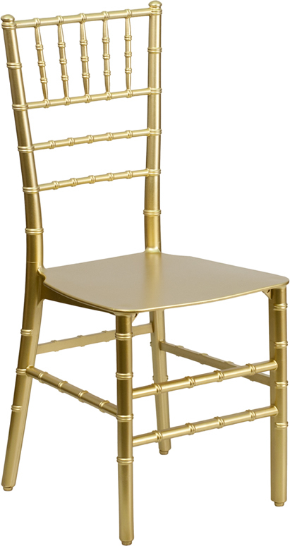 Envychair elegant resin chiavari chair gold for Decor direct