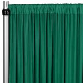 4-Way Stretch Spandex Drape Panel - 12ft Long - Emerald Green