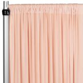 4-Way Stretch Spandex Drape Panel - 12ft Long - Blush/Rose Gold