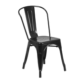 Indoor / Outdoor Stacking Chair - Black