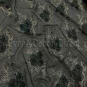 Black - Flourishing Mesh Lace Overlay by Eastern Mills - Many Size Options