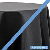Black - Royal Slub Designer Tablecloth - Many Size Options
