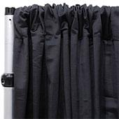 Royal Slub Drape Panel - 100% Polyester - Black