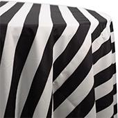 Black & White Striped Cabana Tablecloth - MANY SIZE OPTIONS