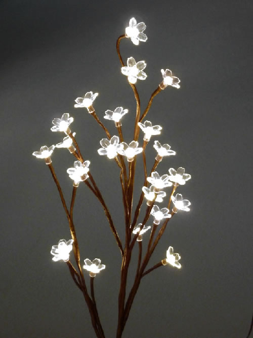 Blooming crystal led lighted branch warm white - Tree branches with lights ...