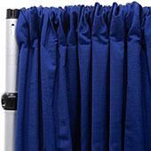 Royal Slub Drape Panel - 100% Polyester - Blueberry
