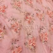 Blush - Flourishing Mesh Lace Overlay by Eastern Mills - Many Size Options