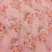 Blush - Flourishing Mesh Lace Overlay by Eastern Mills - Many Size Options