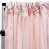 Royal Slub Drape Panel - 100% Polyester - Blush