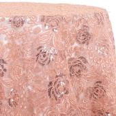 Blush - Sweetheart Lace Overlay by Eastern Mills - Many Size Options