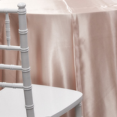 OVERSTOCK - BLUSH - Deco Satin Tablecloth by Eastern Mills - 90