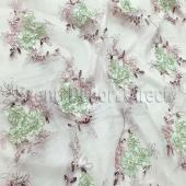 Blush Mix - Flourishing Mesh Lace Overlay by Eastern Mills - Many Size Options