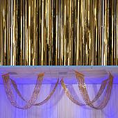 Bronze - Metallic Fringe Ceiling Curtain - Choose your Length