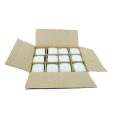 "DecoStar™ White 2.75"" x 5"" Square Pillar Candle - Case Of 12"
