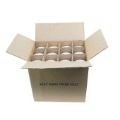 "DecoStar™ Ivory 3"" x 12"" Round Pillar Candle - Case Of 12"
