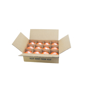 "DecoStar™ Orange 3"" x 3"" Round Pillar Candle - Case Of 12"