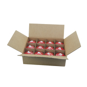 "DecoStar™ Red 3"" x 3"" Round Pillar Candle - Case Of 12"
