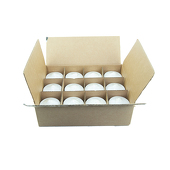 "DecoStar™ White 3"" x 3"" Round Pillar Candle - Case Of 12"