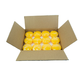 "DecoStar™ Autumn Yellow 3"" Puck Floating Candle - Case Of 24"