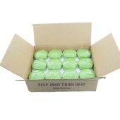 "DecoStar™ Fresh Green 3"" Puck Floating Candle - Case Of 24"