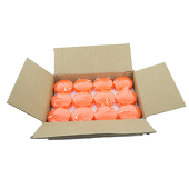 "DecoStar™ Orange 3"" Puck Floating Candle - Case Of 24"