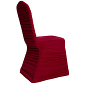 200 GSM Grade A Quality Ruched Chair Cover By Eastern Mills - Spandex/Lycra - Apple Red