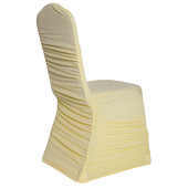 OVERSTOCK - 200 GSM Grade A Quality Ruched Chair Cover By Eastern Mills - Spandex/Lycra - Baby Yellow - LOT OF 10