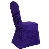 200 GSM Grade A Quality Ruched Chair Cover By Eastern Mills - Spandex/Lycra - Purple
