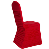 200 GSM Grade A Quality Ruched Chair Cover By Eastern Mills - Spandex/Lycra - Red