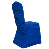 200 GSM Grade A Quality Ruched Chair Cover By Eastern Mills - Spandex/Lycra - Royal Blu