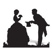 Couple Cut Out Silhouette