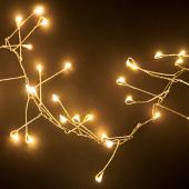 6ft Warm White LED Sparkler Light Strand (400 Bright Lights!)