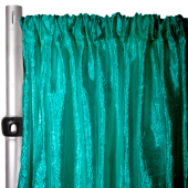 "Extra Wide Crushed Taffeta ""Tergalet"" Drape Panel by Eastern Mills 9ft Wide w/ 4"" Sewn Rod Pocket - Emerald"